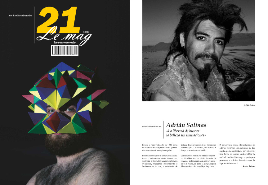 Featured in 21 Le Mag Spanish Video Art Magazine!