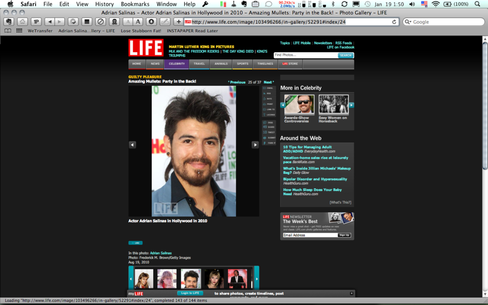 Wow!! Check me out on Life Magazine!!! Amazing Mullets: Party in the Back!